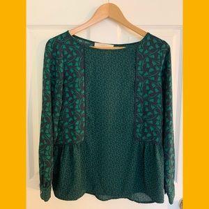 LOFT Blue/Green Patterned Shirt